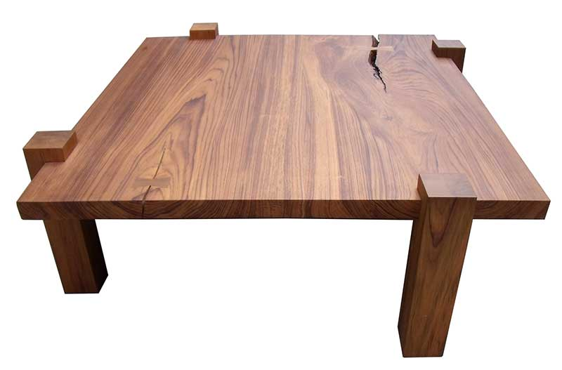 George Nakashima-inspired teak coffee table