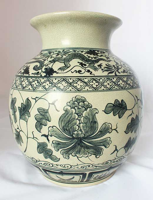 Reproduction of Sukhothai-era vase, northern Thailand