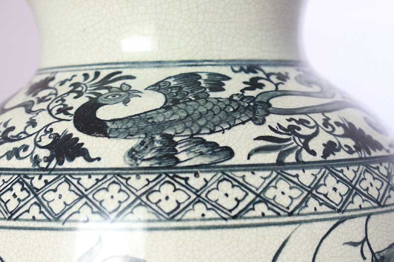 Detail from a reproduction of a 13th-century Thai ceramic vase