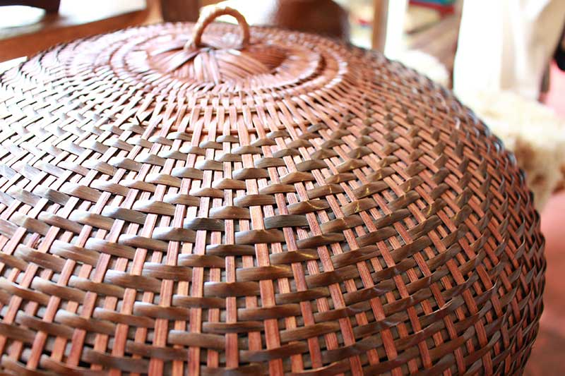 Handwoven Calathea grass dome-shaped food protector