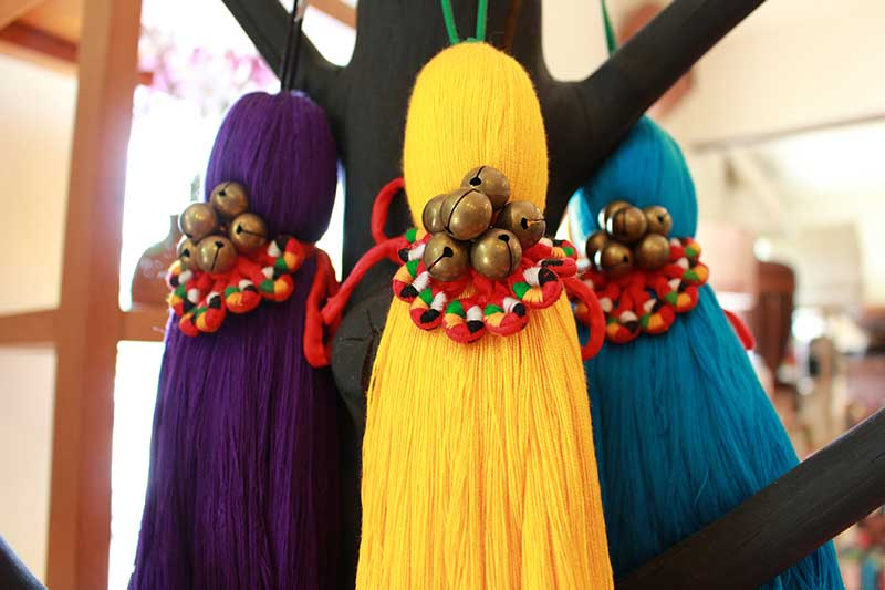 Cotton pulls decarated with Myanmar brass bells and tribal needle work