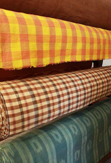 A selection of cotton upholstery material