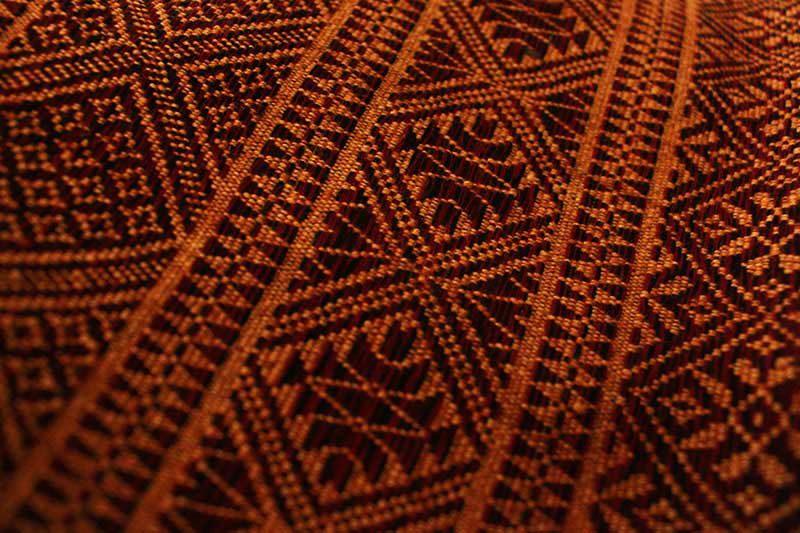 Brocade-woven cotton from Nagaland