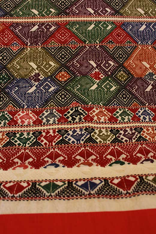 Ceremonial brocade-woven runner from Laos